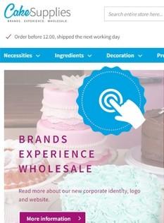 CakeSupplies Website: eine wahre Geschichte geht weiter!
